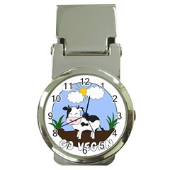 Friends Not Food   Cute Cow Money Clip Watches by Valentinaart