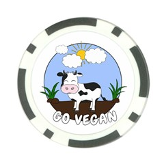 Friends Not Food   Cute Cow Poker Chip Card Guard by Valentinaart