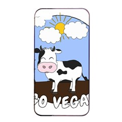 Friends Not Food   Cute Cow Apple Iphone 4/4s Seamless Case (black) by Valentinaart