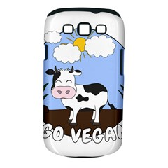 Friends Not Food   Cute Cow Samsung Galaxy S Iii Classic Hardshell Case (pc+silicone) by Valentinaart