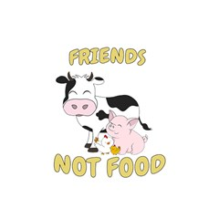 Friends Not Food   Cute Cow, Pig And Chicken Shower Curtain 48  X 72  (small)  by Valentinaart