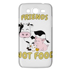 Friends Not Food   Cute Cow, Pig And Chicken Samsung Galaxy Mega 5 8 I9152 Hardshell Case  by Valentinaart