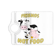 Friends Not Food   Cute Cow, Pig And Chicken Kindle Fire Hd (2013) Flip 360 Case by Valentinaart