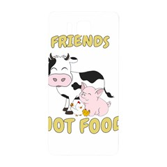 Friends Not Food   Cute Cow, Pig And Chicken Samsung Galaxy Alpha Hardshell Back Case by Valentinaart