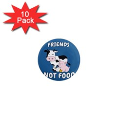 Friends Not Food   Cute Cow, Pig And Chicken 1  Mini Magnet (10 Pack)  by Valentinaart