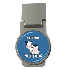 Friends Not Food   Cute Cow, Pig And Chicken Money Clips (round)  by Valentinaart