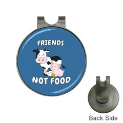 Friends Not Food   Cute Cow, Pig And Chicken Hat Clips With Golf Markers by Valentinaart