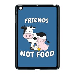 Friends Not Food   Cute Cow, Pig And Chicken Apple Ipad Mini Case (black) by Valentinaart