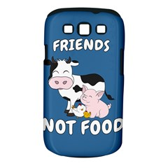 Friends Not Food   Cute Cow, Pig And Chicken Samsung Galaxy S Iii Classic Hardshell Case (pc+silicone) by Valentinaart