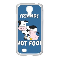 Friends Not Food   Cute Cow, Pig And Chicken Samsung Galaxy S4 I9500/ I9505 Case (white) by Valentinaart