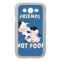 Friends Not Food   Cute Cow, Pig And Chicken Samsung Galaxy Grand Duos I9082 Case (white) by Valentinaart