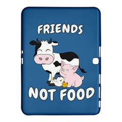 Friends Not Food   Cute Cow, Pig And Chicken Samsung Galaxy Tab 4 (10 1 ) Hardshell Case  by Valentinaart