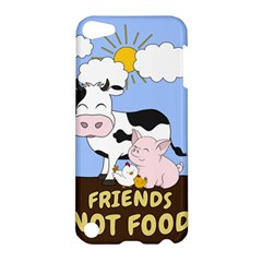 Friends Not Food   Cute Cow, Pig And Chicken Apple Ipod Touch 5 Hardshell Case by Valentinaart