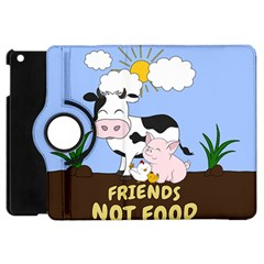 Friends Not Food   Cute Cow, Pig And Chicken Apple Ipad Mini Flip 360 Case by Valentinaart