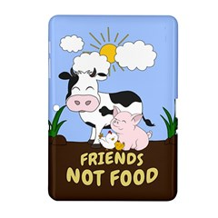 Friends Not Food   Cute Cow, Pig And Chicken Samsung Galaxy Tab 2 (10 1 ) P5100 Hardshell Case  by Valentinaart