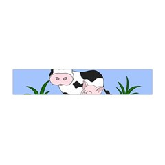 Friends Not Food   Cute Cow, Pig And Chicken Flano Scarf (mini) by Valentinaart
