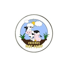 Friends Not Food   Cute Cow, Pig And Chicken Hat Clip Ball Marker by Valentinaart