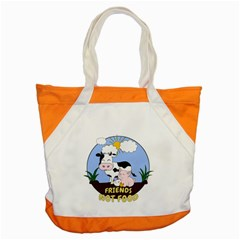 Friends Not Food   Cute Cow, Pig And Chicken Accent Tote Bag by Valentinaart