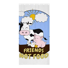 Friends Not Food   Cute Cow, Pig And Chicken Shower Curtain 36  X 72  (stall)  by Valentinaart