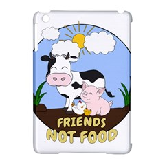 Friends Not Food   Cute Cow, Pig And Chicken Apple Ipad Mini Hardshell Case (compatible With Smart Cover) by Valentinaart