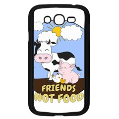 Friends Not Food   Cute Cow, Pig And Chicken Samsung Galaxy Grand Duos I9082 Case (black) by Valentinaart