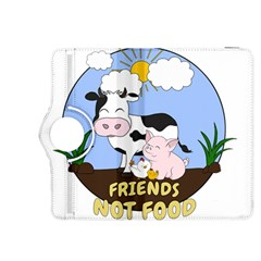 Friends Not Food   Cute Cow, Pig And Chicken Kindle Fire Hdx 8 9  Flip 360 Case by Valentinaart