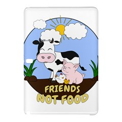 Friends Not Food   Cute Cow, Pig And Chicken Samsung Galaxy Tab Pro 12 2 Hardshell Case by Valentinaart