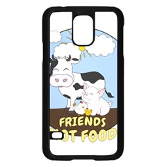 Friends Not Food   Cute Cow, Pig And Chicken Samsung Galaxy S5 Case (black) by Valentinaart