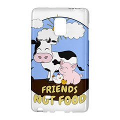 Friends Not Food   Cute Cow, Pig And Chicken Galaxy Note Edge by Valentinaart
