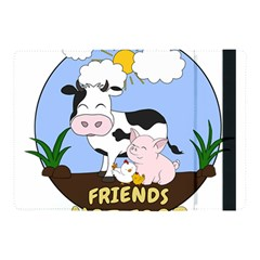 Friends Not Food   Cute Cow, Pig And Chicken Apple Ipad Pro 10 5   Flip Case by Valentinaart