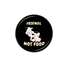 Friends Not Food   Cute Cow, Pig And Chicken Hat Clip Ball Marker (10 Pack) by Valentinaart