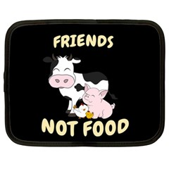 Friends Not Food   Cute Cow, Pig And Chicken Netbook Case (xxl)  by Valentinaart