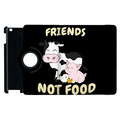 Friends Not Food   Cute Cow, Pig And Chicken Apple Ipad 2 Flip 360 Case by Valentinaart