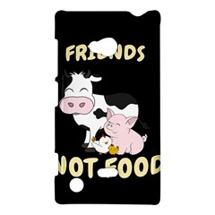 Friends Not Food   Cute Cow, Pig And Chicken Nokia Lumia 720 by Valentinaart