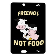 Friends Not Food   Cute Cow, Pig And Chicken Amazon Kindle Fire Hd (2013) Hardshell Case by Valentinaart