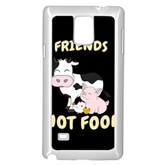 Friends Not Food   Cute Cow, Pig And Chicken Samsung Galaxy Note 4 Case (white) by Valentinaart