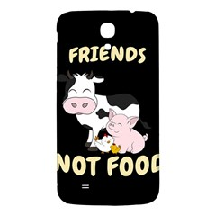 Friends Not Food   Cute Cow, Pig And Chicken Samsung Galaxy Mega I9200 Hardshell Back Case by Valentinaart