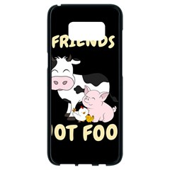 Friends Not Food   Cute Cow, Pig And Chicken Samsung Galaxy S8 Black Seamless Case by Valentinaart