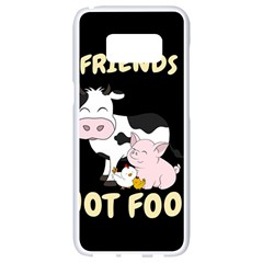 Friends Not Food   Cute Cow, Pig And Chicken Samsung Galaxy S8 White Seamless Case by Valentinaart