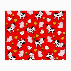 The Farm Pattern Small Glasses Cloth by Valentinaart