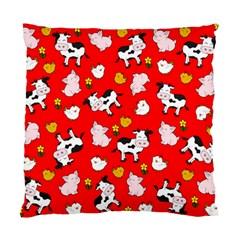 The Farm Pattern Standard Cushion Case (one Side) by Valentinaart