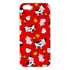 The Farm Pattern Iphone 5s/ Se Premium Hardshell Case by Valentinaart