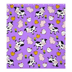 The Farm Pattern Shower Curtain 66  X 72  (large)  by Valentinaart