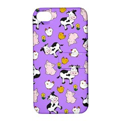 The Farm Pattern Apple Iphone 4/4s Hardshell Case With Stand by Valentinaart