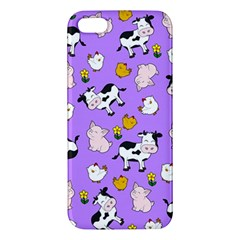 The Farm Pattern Apple Iphone 5 Premium Hardshell Case by Valentinaart