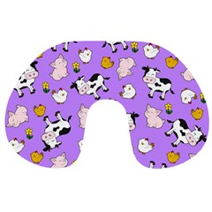 The Farm Pattern Travel Neck Pillows by Valentinaart