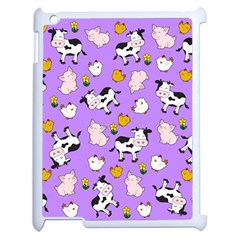 The Farm Pattern Apple Ipad 2 Case (white) by Valentinaart