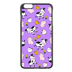 The Farm Pattern Apple Iphone 6 Plus/6s Plus Black Enamel Case by Valentinaart