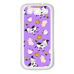 The Farm Pattern Samsung Galaxy S3 Back Case (white) by Valentinaart