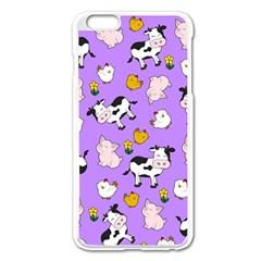 The Farm Pattern Apple Iphone 6 Plus/6s Plus Enamel White Case by Valentinaart